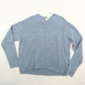 H&M Oversized Blue Wool blend Knit Sweater Size Sm